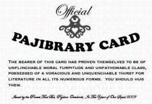 pajibrary card